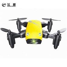 Feichao S9W Mini Drone com Câmera Modo Headless S9 Sem Câmera RC Helicóptero Quadcopter Dobrável Bolso Brinquedos Aeronaves FPV Wi-fi