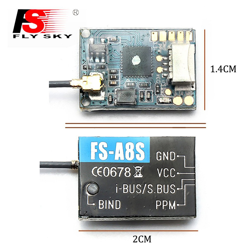 Flysky A8S 8 Channel Receiver 2.4Ghz PPM i-BUS SBUS for Rc Quadcopter FS-I6X FS-i4 FS-i6 FS-i6S Transmitter f09166 10 10pcs cx 20 007 receiver board for cheerson cx 20 cx20 rc quadcopter parts
