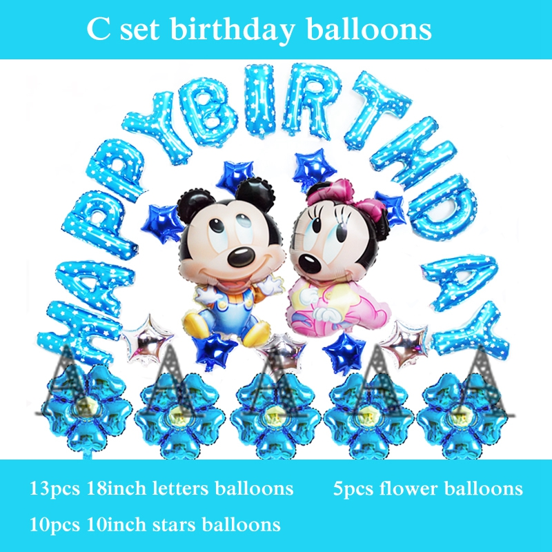 foil balloons mickey minnie mouse helium balloons for children happy birthday ba