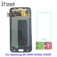 Super Amoled S6 LCD For Samsung GALAXY S6 G920 G920F LCD Display Touch Screen Digitizer Assembly