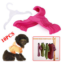 10PCS/Set Plastic Tough Pet Dog Puppy Cat Clothes Clothing Rack Hanger 18cm/25cm White&Red Length Dog Product Accessories(China)