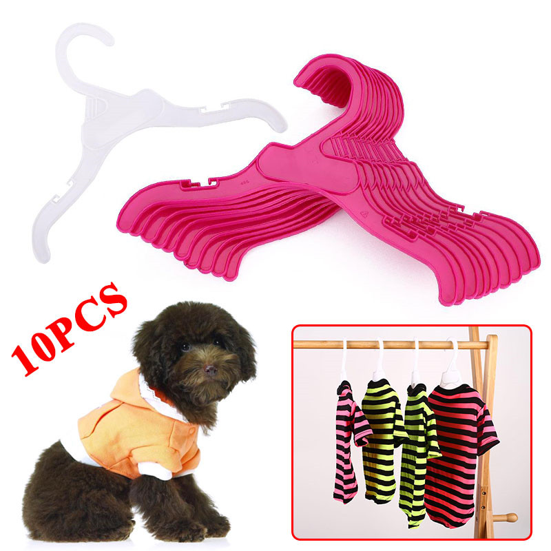 10PCS Set Plastic Tough font b Pet b font Dog Puppy Cat Clothes Clothing Rack Hanger