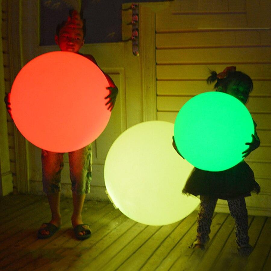 Led 야외 정원 풍경 빛 충전식 원격 제어 rgb 다채로운 방수 led 수영장 부동 공 램프