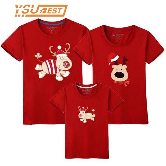 4e8fe8f1a Familia Navidad familia juego trajes T camisa de la hija de la madre de  manga corta