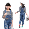 Baby Girls Denim Jeans Spring Autumn Pants Children Denim Overall Trousers Kids Casual Infant Jeans 2017 Fashion New