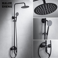 Blue And White Porcelain Antique Shower Set Bathroom Shower Fauct Bath Mixer With Head Shower And