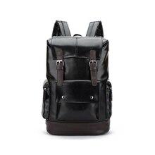 HEBA-Leather Casual Backpack College Backpack Men's Vintage Leather Backpack Tra