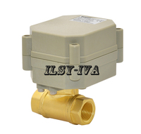 DN10 G3 8 Brass Electric Ball Valve Two Way Electric Ball Valve DC24V Seven Wires Automatic