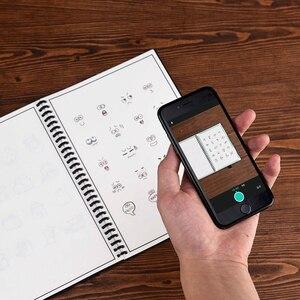 Image 3 - Elfinbook 똑똑한 재사용 할 수있는 지울 수있는 나선형 A5 B5 노트북 종이 메모장 저널 그림 그리기 rocketbook처럼 포켓북