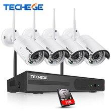 Techege 4ch 1080 P Беспроводной 1 ТБ HDD NVR CCTV Системы 1.0mp WI-FI IP Камера Водонепроницаемый IP66 WI-FI Камера 4ch NVR Системы Камера Системы