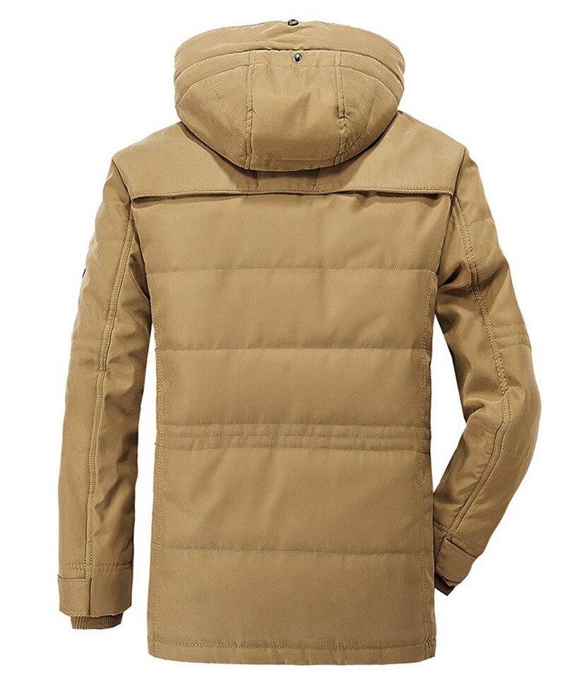 High Quality Men's Windbreaker Fleece Cotton Winter Jacket 6