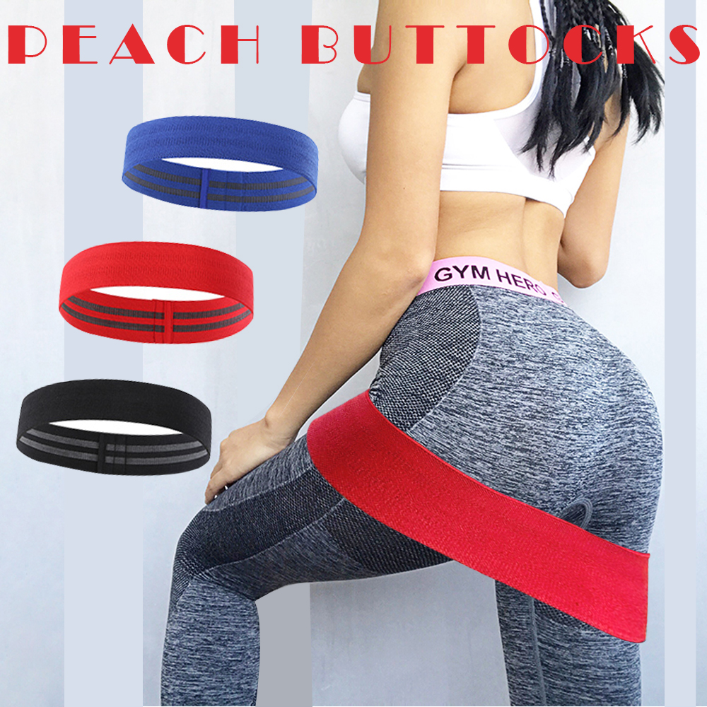 Hip Resistance Bands Booty Elastic Bands Exercise For Thigh Hips Glutes Bridge Fitness Workout Resistance Bands No Curling