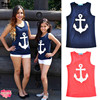 Mamilighthouse Mother Daughter Clothes 2017 Summer Style Anchor Matching T Shirts Cute Fashion Bow Family Look