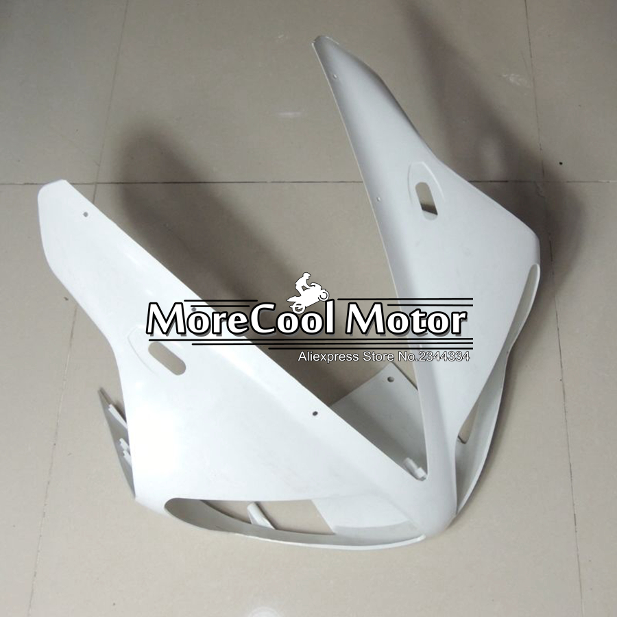 ABS Plastic Unpainted Fairing Front For Yamaha YZF R1 2002 2003 YZF-R1 02 03 Injection Motorcycle Upper Fairing Head Nose