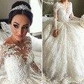 Vestido De Noiva Manga Longa Princesa Long Sleeve Wedding Dress Lace Princess Ball Gown Wedding Dresses Luxury 2016 Casamentos