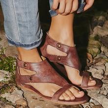 Plus Size 34-43 Flats Sandals Casual Women Sandals Summer