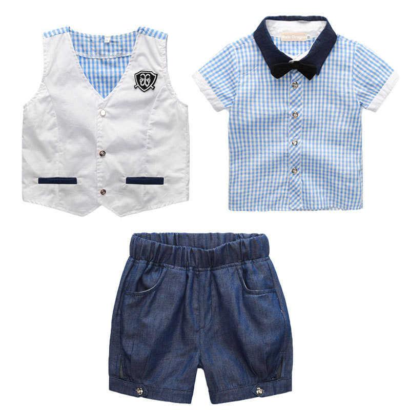08d1d72327ec Gentleman Suit Kids Dresses For Boy Brand Clothing Set 2018 Summer Formal  Sets For Boys Clothes