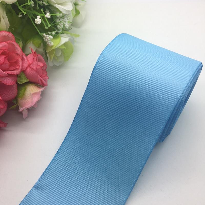 3 ярдов/партия 2 дюйма 50 мм широкий свет синяя корсажная лента банты на голову свадебный DIY ремесла