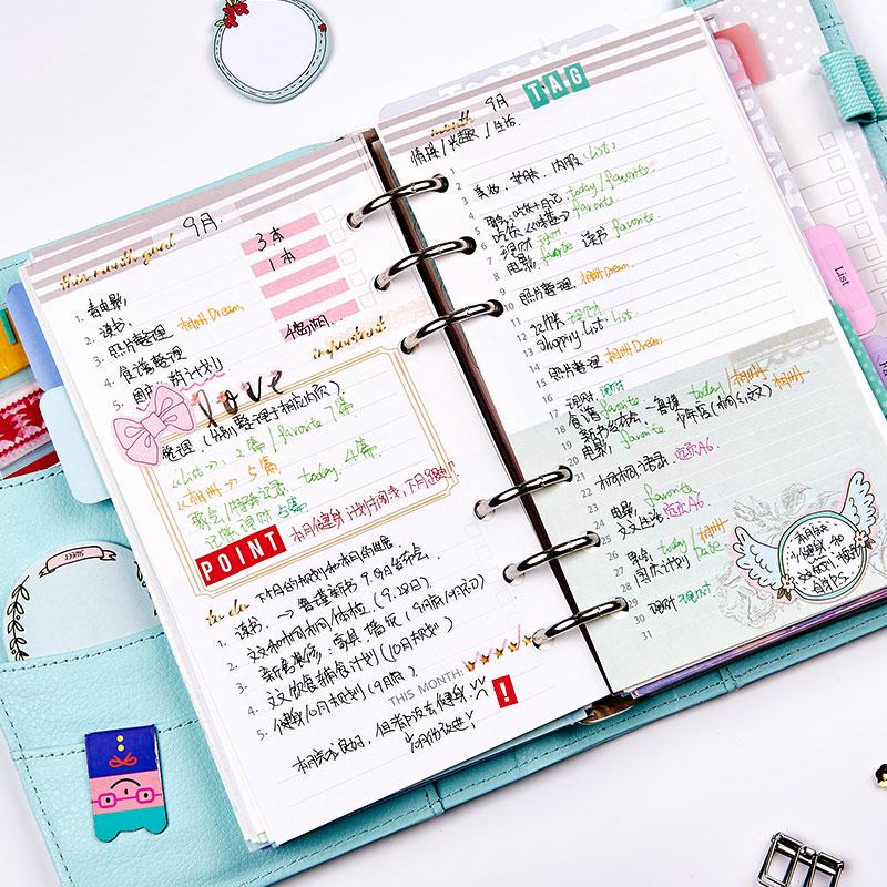 Dokibook Notebook Spiral Planner 6 Delikli Yarpaq A5 və A6 Cədvəli - Qeyd kitabçaları - Fotoqrafiya 6