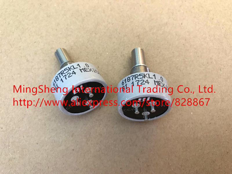 Original new 100% Mexico import conductive plastic potentiometer single ring 6187R 5K 360 degrees unlimited (SWITCH) цены