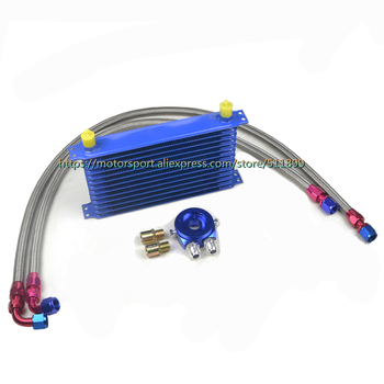 10AN 13Rows Universal Engine Car Oil Cooler Kits With 2 oil pipe + 1 oil adapter