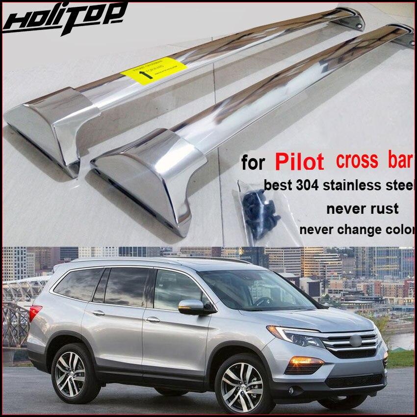 New arrival for Honda new Pilot 2016-2018 roof rail roof rack cross bar horizontal beam,thick aluminum alloy or stainless steel.