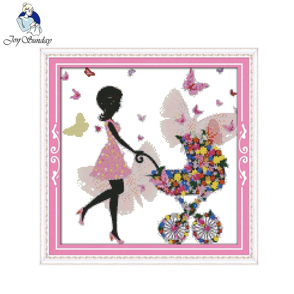 ᐊAlegría Domingo flor bonita mujer costura patrón de tamaño pequeño ...