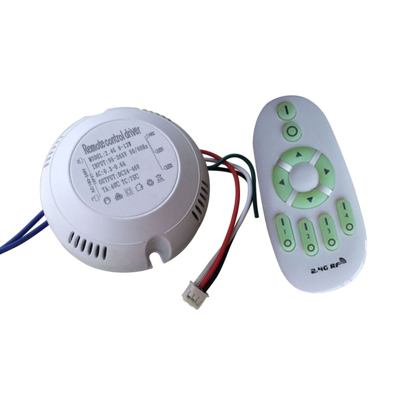 цены 1X Round type 8-12W 2.4G Constant current CCT dimmer led driver with 2.4G led remote controller free shipping