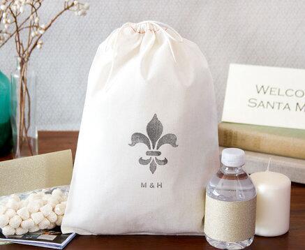 fedcc2fff4d9 personalized Fleur De Li Hangover Kit destination wedding favor gift  Welcome Bags Bachelorette hem bridal shower party gift bag-in Gift Bags    Wrapping ...