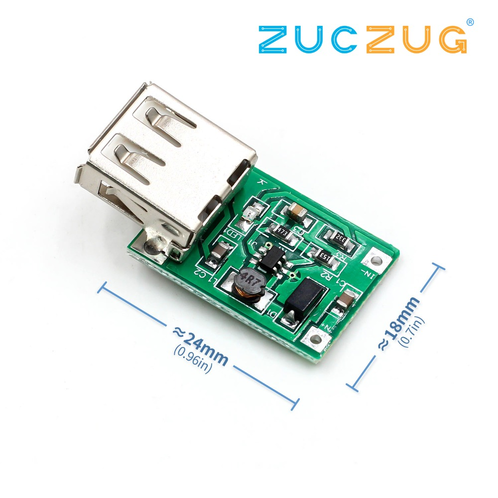 DC-DC Converter Step-up Module (0.9V~5V) TO 5V 600MA USB Booster Circuit Board Power Boost