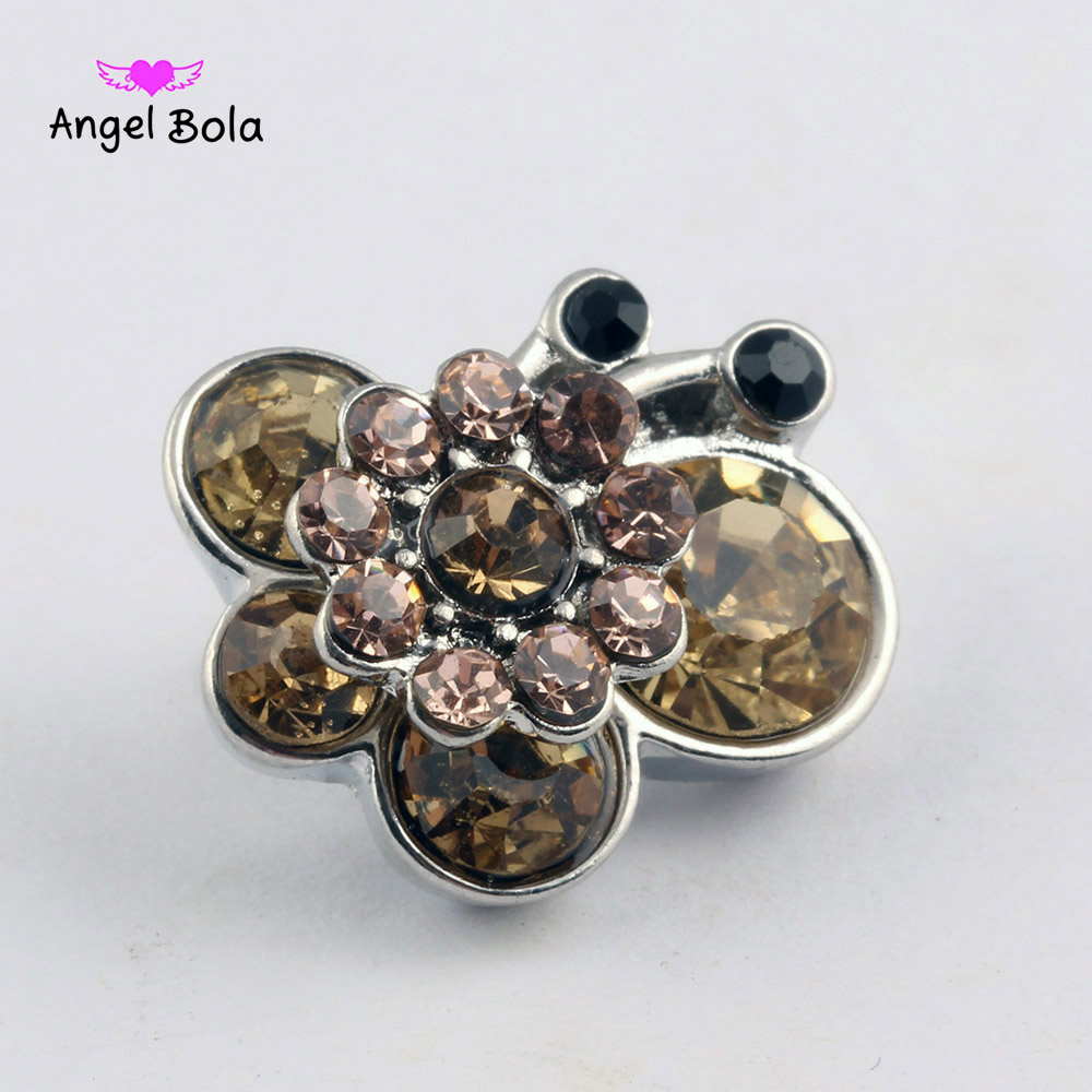 Crystal Butterfly Snap Jewelry Rhinestone Snap Buttons DIY Making 18MM Snaps Bracelet Accessories