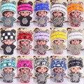 Hot Bonito Dos Desenhos Animados Monchichi Boneca Chaveiro Strass Menina Inlay anel De Cristal Chave Do Carro titular Mulheres Bolsa charme Acessórios