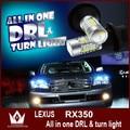 Senhor noite Para L-exus RX350 DRL LED Daytime Running Light & Frente Turn Signal Luz Tudo em um frete grátis