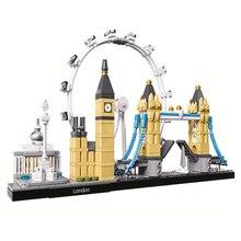 Kompatibilis Legoe London Torony híd Big Ben Buckingham Palace alkotó Építészet Építőelemek Tégla 2018 új
