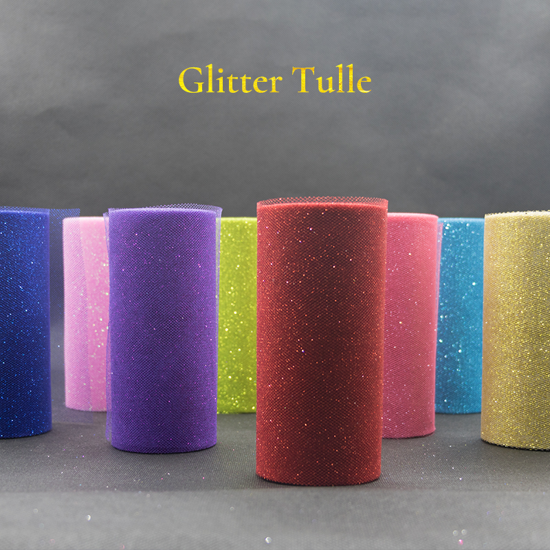 Image 2 - 25Yards Glitter Sequin Tulle Roll Wedding Decoration Gold Laser Organza Silver Sparkly Glitter Sequin Tulle  Mesh Party Supplies-in Party DIY Decorations from Home & Garden