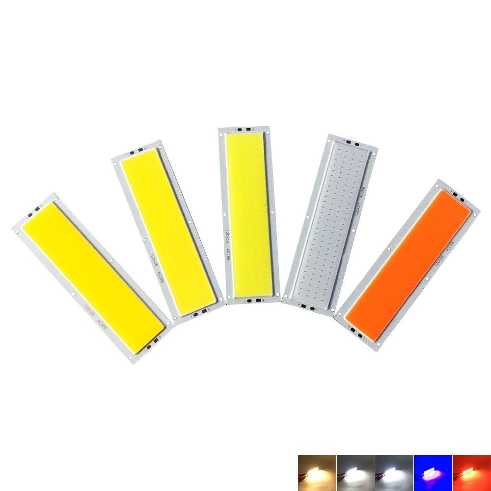 Big Promotion 120*36mm COB LED Light Bulb 12V 10W 1000LM LED Lamp For House Work Car Lighting Red Blue Warm Natural Cool White