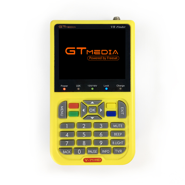 Original GT MEDIA V8 Finder HD DVB-S2 Satellite Finder High Definition MPEG-4 Freesat V8 Meter Finder Digital Meter Satfinder