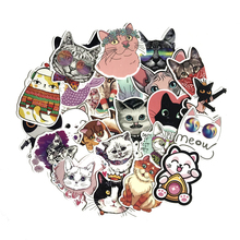 TD ZW 50Pcs Cartoon Lovely Cats Stickers For Suitcase Skateboard Laptop Luggage Fridge Phone Car Styling DIY Decal Sticker