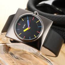 SOKI Black Leather Quartz Watch Lady Watches Women Luxury Antique Stylish Square Dress Watch Relogio Feminino Montre Femme