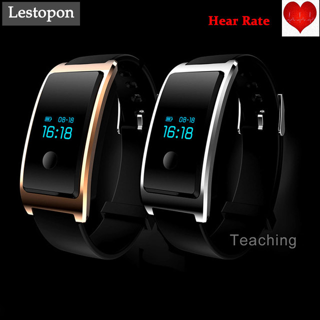 Lestopon New Smart Wristband Smart band Heart Rate Monitor Waterproof Smart Bracelet For Ios 7.0 Android 4.4 Pedometer Bracelet
