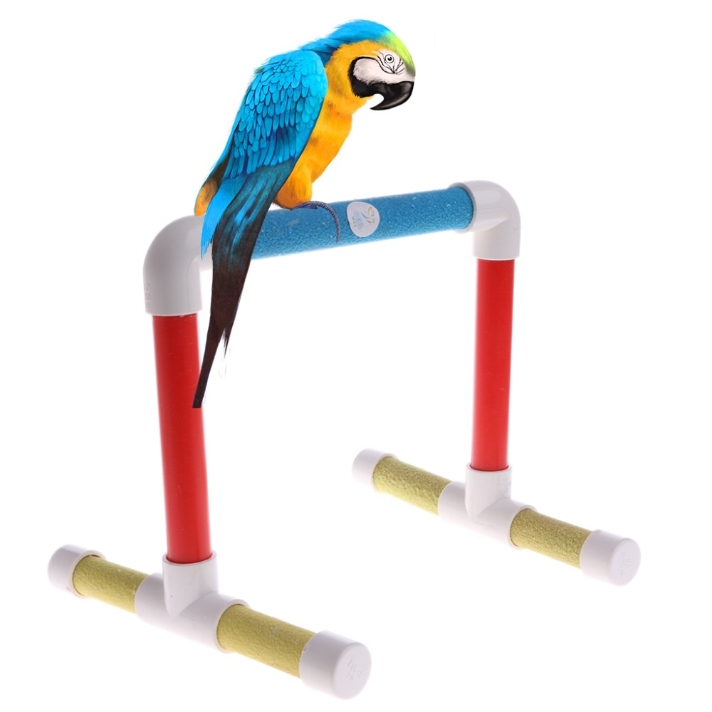 Hot Sale Colorful Pet Bird Cage Perches Stand Platform Chew Toy Paw Grinding Clean for Toys Parrot Bites Parakeet