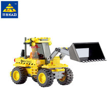 Kazi City Bulldozer Blocks 117pcs Bricks Building Blocks Sets Education Toys For Children