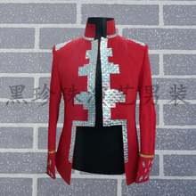 Красный королевский мужской костюм дизайнерские персонализированные