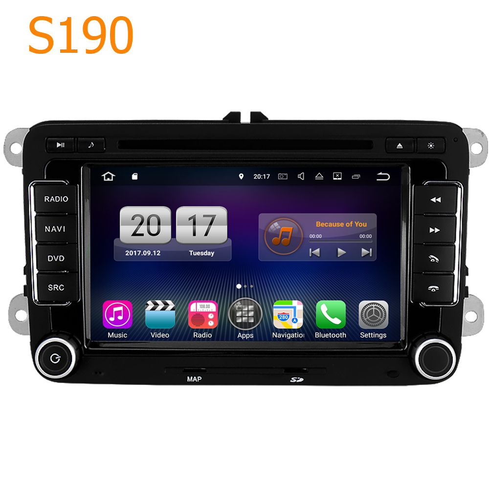 Road Top Winca S190 Android 7.1 System 4 Core CPU Car GPS DVD Head Unit for VW Scirocco Golf EOS Rabbit T5 Caravelle for Polo