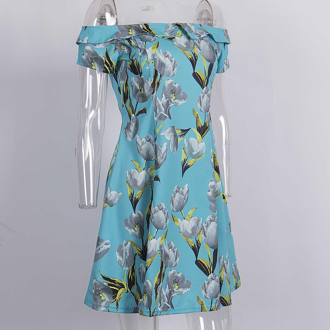Mutter Tochter Frauen Mädchen 2017 Neue Sommer-Party Weg Vom Schulter Shory Sleeve Floral Kleid Familie Kleidung Outfits Kleidung