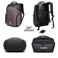 OZUKO Brand Anti theft USB Charging Backpacks Travel Bag Password Lock For Male Waterproof Boy Casual Laptop Bags