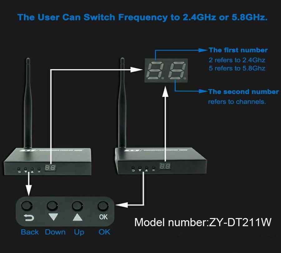 DT211W WIFI HDMI Video Transmitter 196ft HDMI Over Wireless AV Extender 1080P Wireless HDMI Sender Receiver Like HDMI Splitter wireless hd dlna wifi av transmitter sharer white