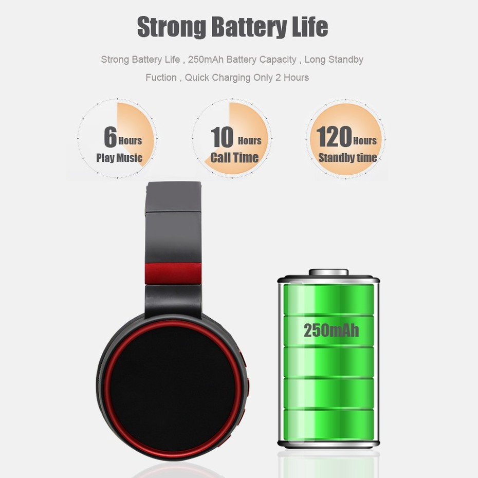 KHP ST10 Wireless Bluetooth Earphones Headphones With Microphone TF Card Gaming Headphones Headset For Computer TV Earbuds (4)