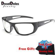 DD Photochromic Sunglasses Men Polarized Chameleon Discoloration Sun glasses for men fashion rimless square sunglasses
