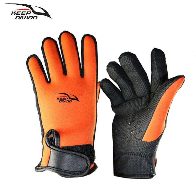 Keep Diving Brand Winter Warm 2mm Neoprene Diving Gloves Suit Men Women Wet Scuba Snorkeling Gloves Equipment